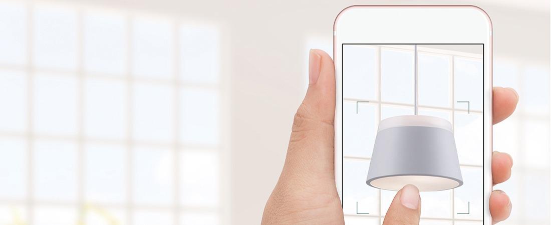 AR App für Wohnraumleuchten