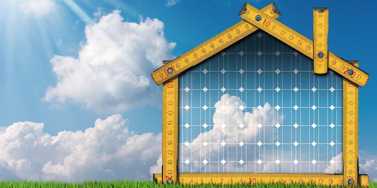 Haus mit Solarthermie