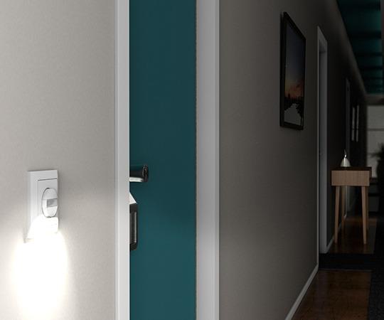 Wandpräsenzmelder Indoor mit Nachtlichtfunktion