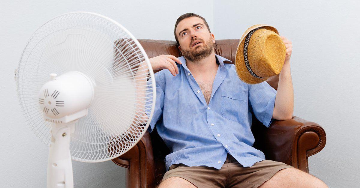 Schwitzen trotz Ventilator