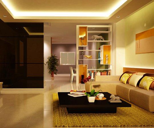 beleuchtetes Zimmer