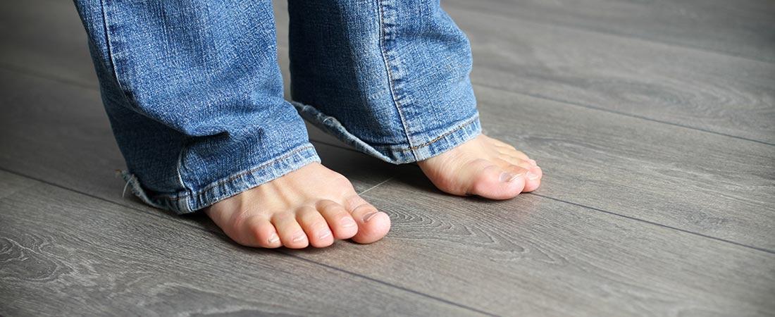 warme Füße dank Fußbodenheizung