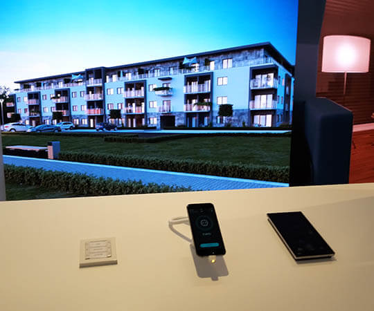 Gira steuerung Smart Apartmenent