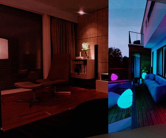Gira Smart Villa - Lichtsteuerung Indoor und Outdoor