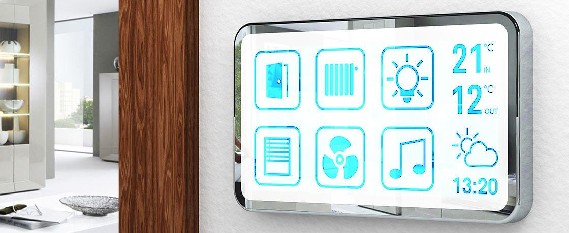 smarte Steuerung von Heizung, Klima, Licht per Panel
