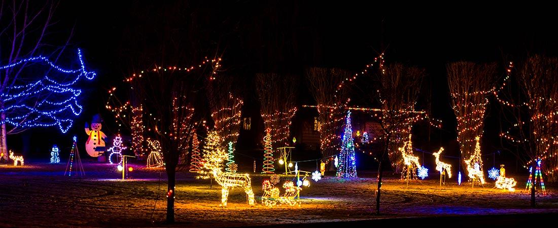 beleuchtete Weihnachtsfiguren
