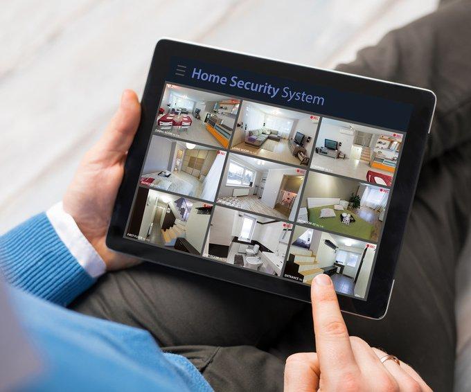 Hausüberwachung mit dem Tablet