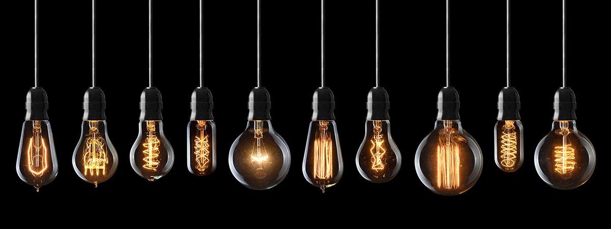 unterschiedliche Leuchtmittel mit Filament