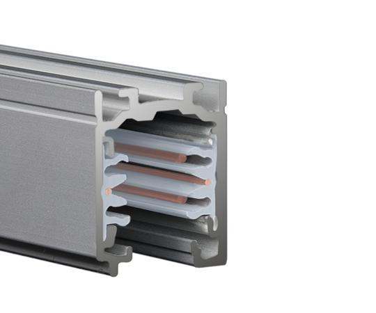 LTS Stromschiene ONETRACK grau - Anbau