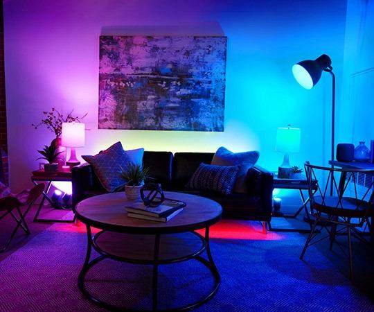 Professional Smart - intelligente Beleuchtung im Wohnzimmer