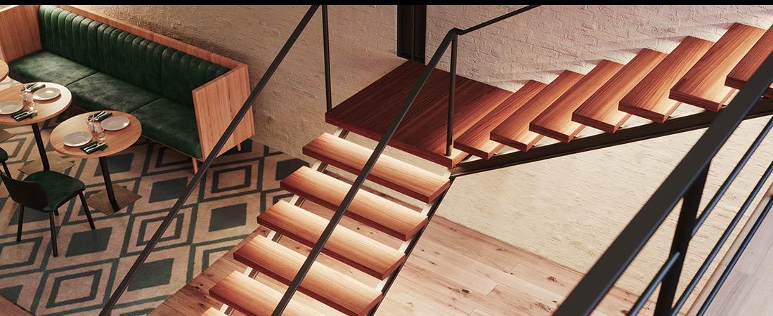 Treppe mit LED Strips