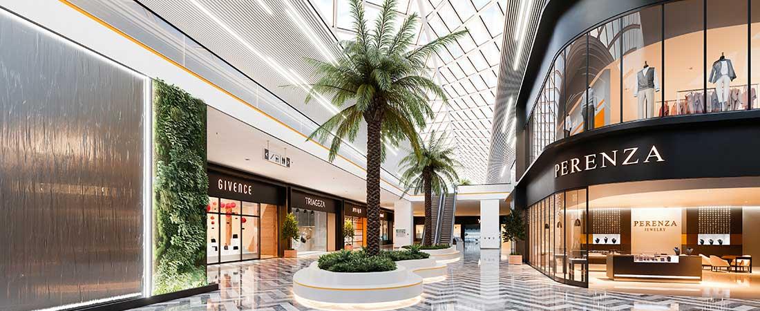 LED Lichtbandbeleuchtung Einkaufszentrum/ Shopping Center