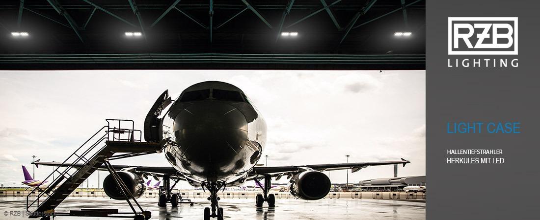 LIGHT CASE - Hallenbeleuchtung Flugzeughalle