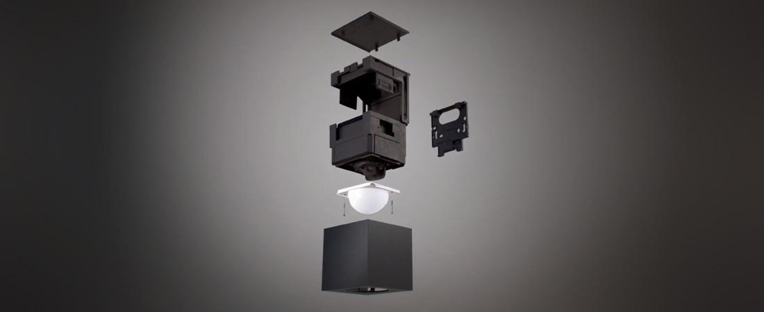 Cube Bewegungsmelder - Explosionsabbildung