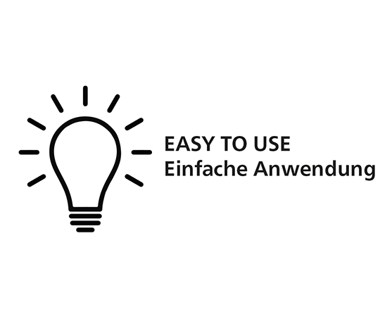 EASY TO USE - einfache Anwendung
