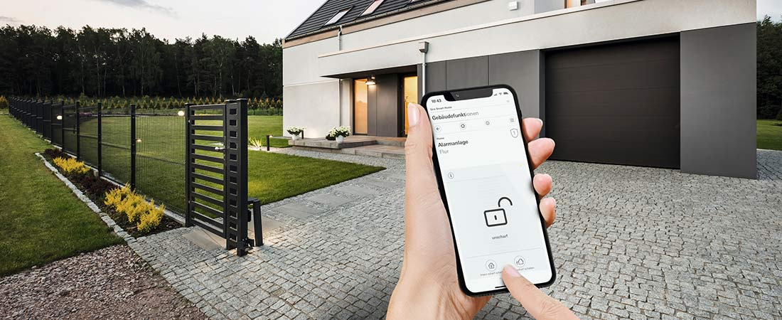 Gira Smart Home App - Sicherheitssystem Alarm Connect