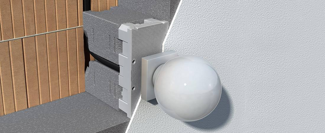 System-Geräteträger für Befestigung von Elektroinstallationen