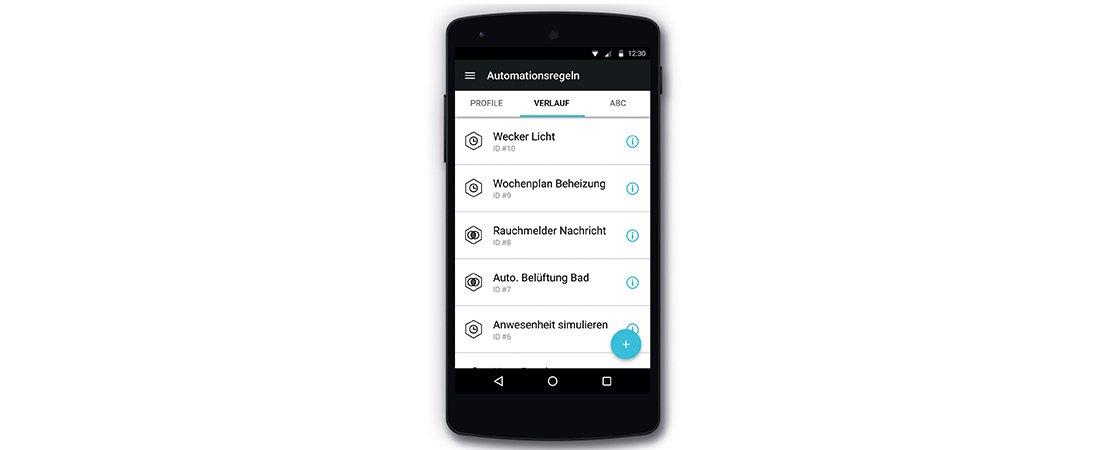 Bedienung der MAICO App zur Automatisierungsregelung