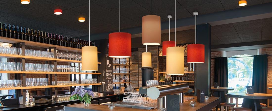 TOLEDO FLATLINER als Restaurantbeleuchtung