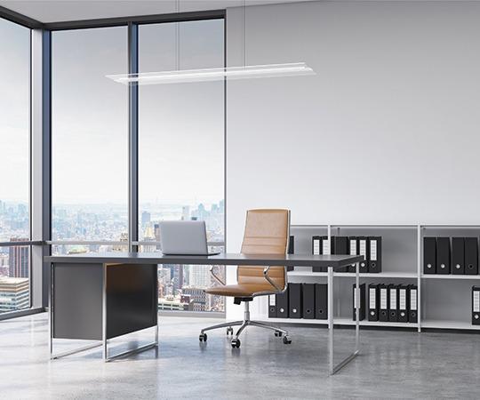 RZB Twindot Pendelleuchten im Büro