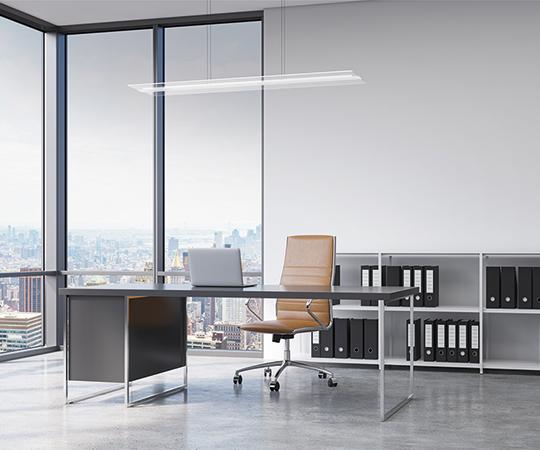LED Pendelleuchten-Serie TWINDOT als Bürobeleuchtung