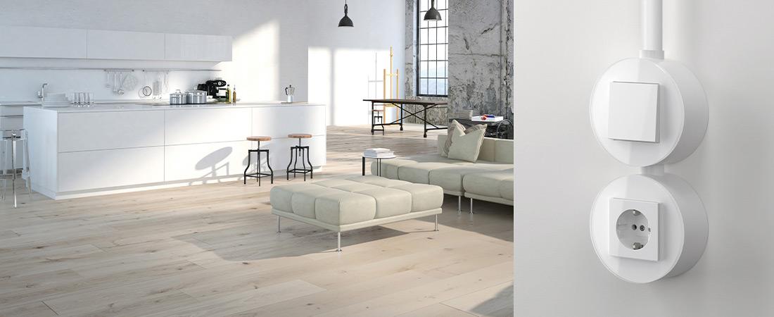 Gira Studio in der Farbe Reinweiß glänzend