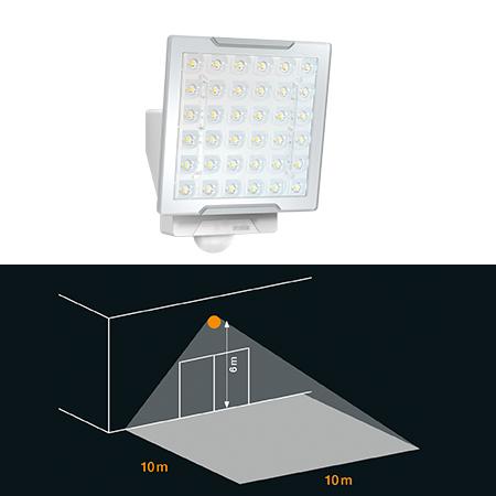 Profi-Sensorstrahler XLED PRO Square